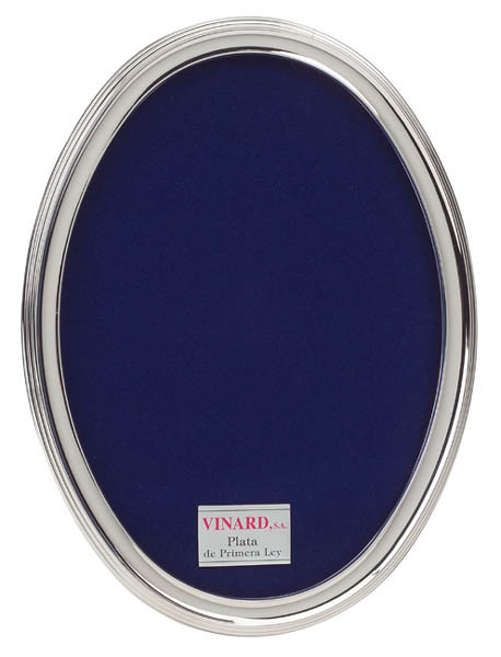 Vinard Sterling Silver Contemporary Oval 5x7 Picture Frame Cunill