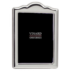 VINARD Silver Plated Beaded Anniversary 5x7 Picture Frame