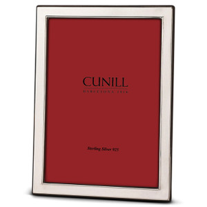 "CUNILL Sterling Silver Plain (1/2"" Border) 11x14 Picture Frame"
