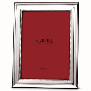 CUNILL Sterling Silver Grooves 5x7 Picture Frame