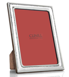 CUNILL Sterling Silver Hammered 5x7 Picture Frame