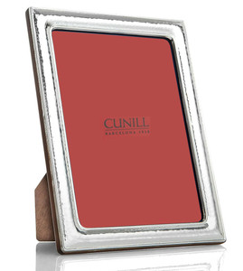 CUNILL Sterling Silver Hammered 8x10 Picture Frame