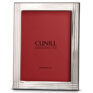 CUNILL Sterling Silver Pinstripe 4x6 Picture Frame