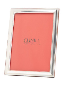 CUNILL Sterling Silver Plain Beveled 5x7 Picture Frame