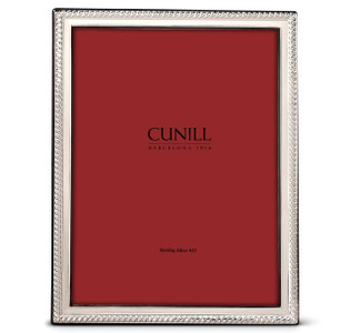CUNILL Sterling Silver Slim Rope 8x10 Picture Frame