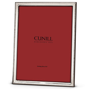CUNILL Sterling Silver Slim Beaded 8x10 Picture Frame