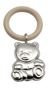 CUNILL Sterling Silver Teddy Teething Ring