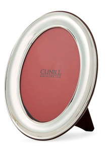 CUNILL Sterling Silver Oval Plain 4x6 Picture Frame