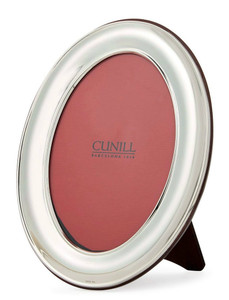 CUNILL Sterling Silver Oval Plain 5x7 Picture Frame