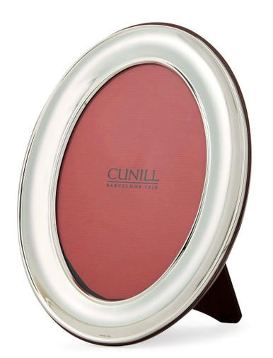 Cunill Sterling Silver Oval Plain 8x10 Picture Frame Cunill America