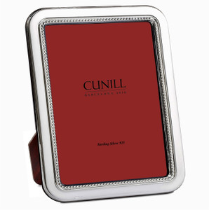 CUNILL Sterling Silver Rounded Bead 8x10 Picture Frame