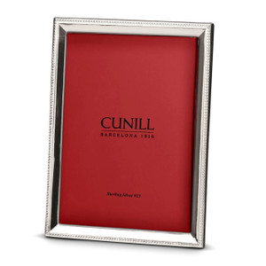 CUNILL Sterling Silver Bead Bevel 8x10 Picture Frame