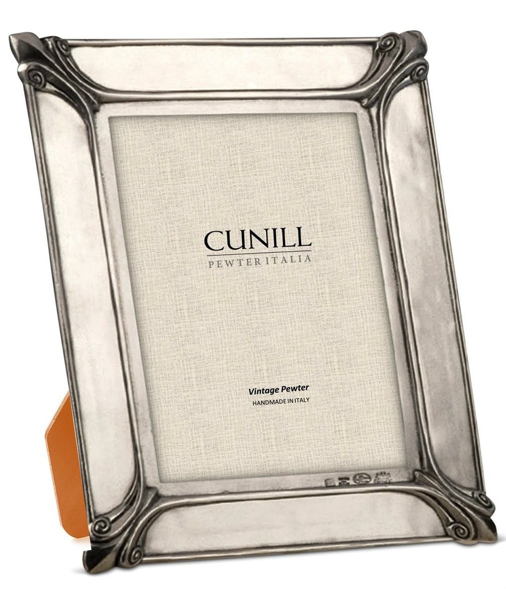 Cunill Pewter Fleur De Lis 35x5 Picture Frame Cunill America