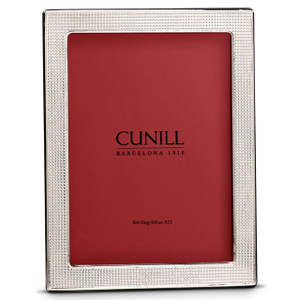 CUNILL Sterling Silver Mesh 8x10 Picture Frame
