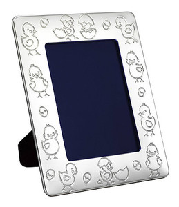 VINARD Silver Plated Chicklets 4x6 Picture Frame