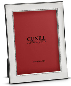 CUNILL Sterling Silver Beaded Wide 8x10 Picture Frame