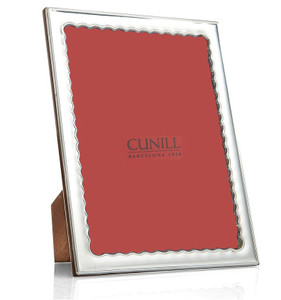 CUNILL Sterling Silver Drifts 8x10 Picture Frame