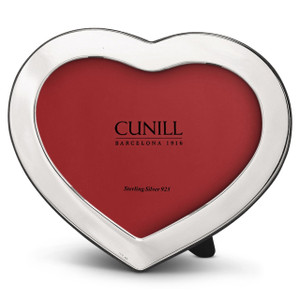 CUNILL Sterling Silver Heart 3x5 Picture Frame