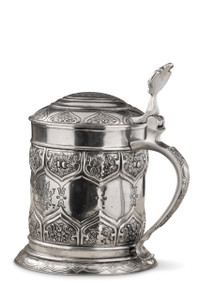 PEWTER ITALIA Dinasty Beer Stein H: 8""