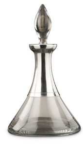 PEWTER ITALIA Palace Pewter-Glass Decanter H: 11.8""