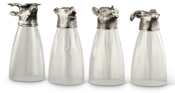 PEWTER ITALIA Animal Beer Glasses (Set of 4)