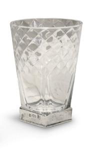"PEWTER ITALIA Diamonds Drink Glass-Pewter H: 5.5"""