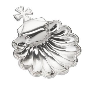 "VINARD Sterling Silver Baptismal Shell (5.5"" x 4"")"