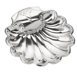 "VINARD Sterling Silver Baptismal Shell (4.5"" x 4"")"