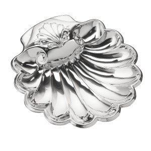"CUNILL Sterling Silver Baptismal Shell (4.5"" x 4"")"