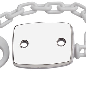 CUNILL Sterling Silver Plain Rectangle Baby Pacifier Clip