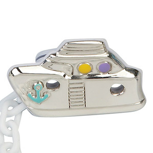 CUNILL Sterling Silver Sailor Baby Pacifier Clip (Color)