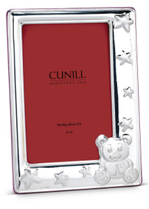 CUNILL Sterling Teddy Stars 4x6 Picture Frame (Pink Wood Back)