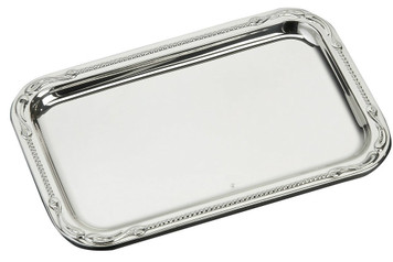 "VINARD Sterling Silver Pearls Tray (5.5"" x 3.5"")"