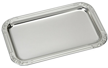 "VINARD Sterling Silver Floral Tray (5.5"" x 3.5"")"