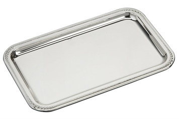 "VINARD Sterling Silver Large Pearls Tray (7"" x 4.5"")"