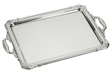 "VINARD Sterling Silver Handled Rectangular Tray (10"" x 6.5"")"
