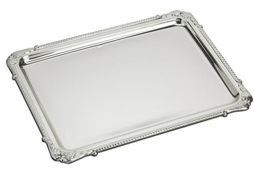 "VNARD Sterling Silver Feathers Tray (9"" x 6.5"")"