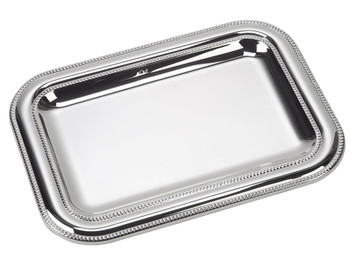 "VINARD Sterling Silver Wide Double Bead Tray (7"" x 5"")"