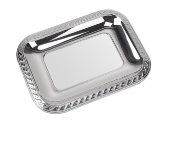 "VINARD Sterling Silver Waves Tray (3"" x 4"")"