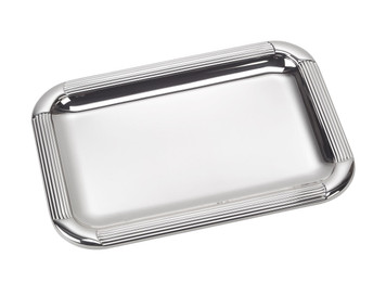 "VINARD Sterling Silver Striped Tray (8.5"" x 6.5"")"