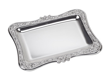 "VINARD Sterling Silver Baroque Tray (8.5"" x 6.5"")"