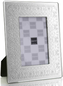 ARGENESI 999 Silver/Glass 'Flowers' 5x7 Picture Frame