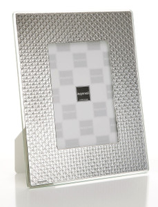 ARGENESI 999 Silver/Glass 'Diamonds' 4x6 Picture Frame