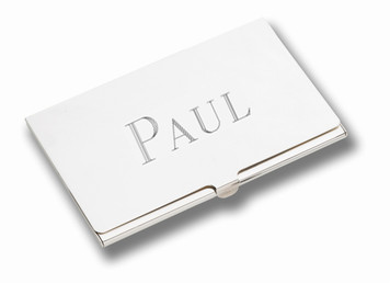 """CUNILL Stainless Steel Plain Business Card Case (3.5"""" x 2.25"""")"""
