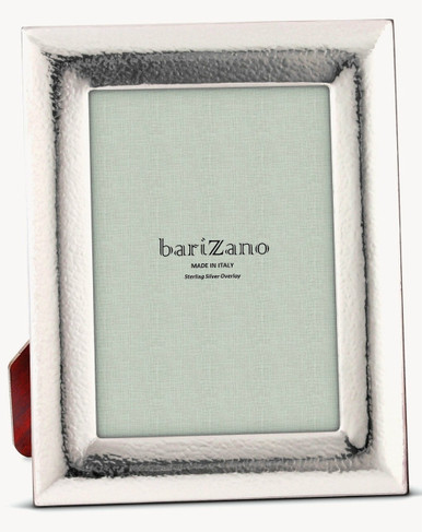 Barizano Sterling Silver Overlay Hammered 5x7 Picture Frame Cunill
