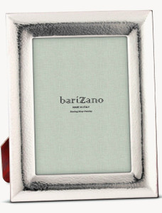 BARIZANO Sterling Silver Overlay Hammered 8x10 Picture Frame