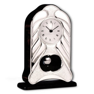 "CUNILL Sterling Silver 9""x 5.5"" Pendulum Clock"