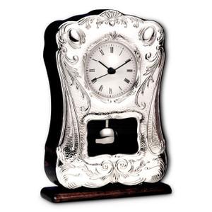 "CUNILL Sterling Silver 6"" x 9.5"" Pendulum Clock"