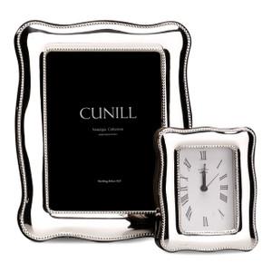 CUNILL Sterling Silver Athena Bead 2.5x3.5 Nostalgia Desk Clock