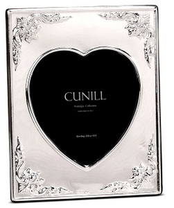 CUNILL Sterling Silver Victorian Heart 4x6 Nostalgia Picture Frame